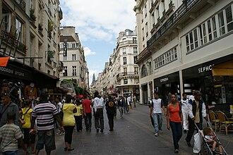 Rue Saint-Denis (Paris) - Pedestrian Rue Saint Denis in Les Halles district