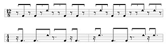 Quinto (drum) - Alternating tone-slap melody quinto lock phrase.