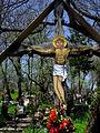 Rumunia, Desesti, krzyż na cmentarzu przycerkiewnym SDC12125.JPG