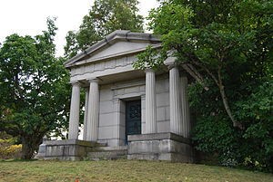 Russell Sage - Sage's mausoleum in Oakwood Cemetery