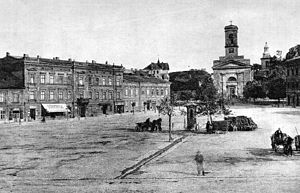 Districts of Kraków - Podgórze Market Square, end of 19th century