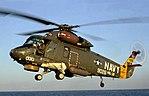 SH-2F Seasprite landing on the USS Nicholson (cropped).jpg