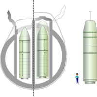 Comparison of different nuclear systems: left, the SNLE (Redoutable type) with the M4 missile; right, the SNLE-NG (Triomphant type) with the present M45 missile and the future M51 missile.