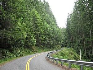Washington State Route 165 -  SR-165 near the small town of Wilkeson, Washington.