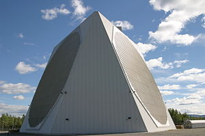 Clear Air Force Station - The 11-story tall phased array building