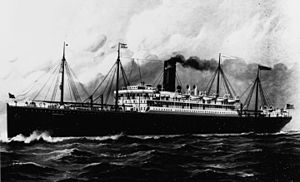 SS Mongolia underway at sea (artwork), circa 1910 (NH 91268).jpg