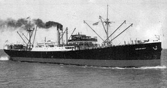 Argentina during World War II - The Argentine merchant ship Uruguay, sunk by the German submarine U-37,