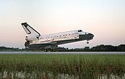 Columbia touches down at Kennedy Space Center at the end of STS-73.