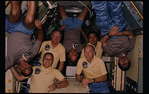 Robert F. Overmyer - Overmyer, second from left, with fellow crew members of STS-51-B