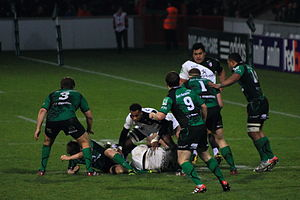 Connacht Rugby - Connacht playing in green against Toulouse in the 2011–12 Heineken Cup