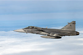 Saab JAS-39 Gripen of the Czech Air Force (6802977002).jpg