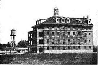 Benet Academy - The Benedictine Convent and Normal School in Lisle, one-fourth complete, in 1913. Sacred Heart Academy was founded here in 1926.