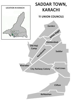 Union councils of Saddar Town