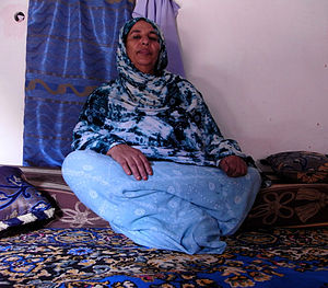 Sahrawi people - Saharawi woman.