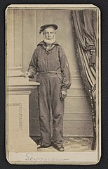 Sailor identified as Seymour in uniform) - Bradley & Rulofson, successors to R.H. Vance, corner of Montgomery & Sacramento Streets, San Francisco LCCN2017652155.jpg