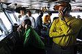 Sailors work in primary flight control at sea. (8434690905).jpg