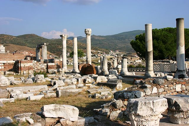 Ruinas de la Basílica de San Juan, en Selcuk, cerca de Efeso. Fuente: Wikipedia