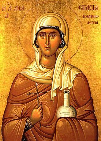 Anastasia of Sirmium - Modern Orthodox Christian icon of Saint Anastasia the Great-Martyr.