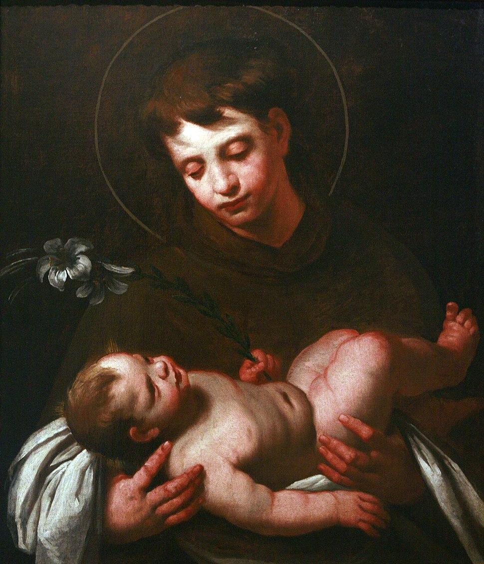 Saint Antony of Padua holding Baby Jesus mg 0165