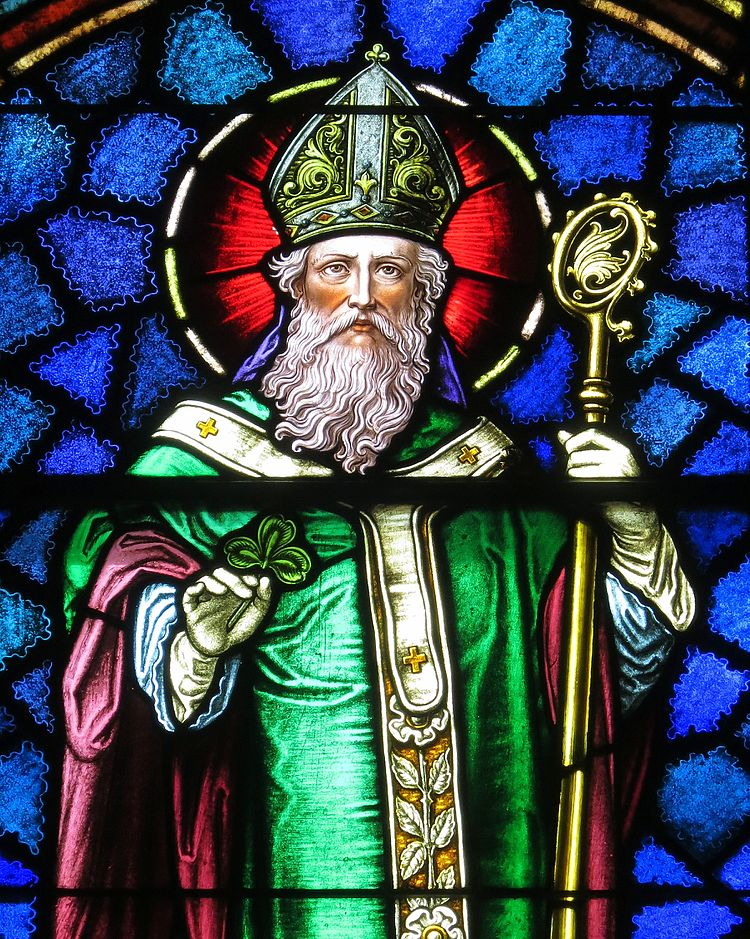Saint Patrick Catholic Church (Junction City, Ohio) - stained glass, Saint Patrick