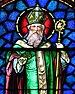 Saint Patrick Catholic Church (Junction City, Ohio) - stained glass, Saint Patrick - detail.jpg