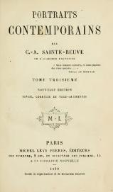 Sainte-Beuve - Portraits contemporains, t3, 1870.djvu