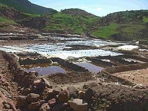Ourika River - Image: Salt pans near Marrakech 2