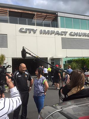 City Impact Church New Zealand - MP Hon Sam Lotu-Liga at a Community Impact Day in September 2015