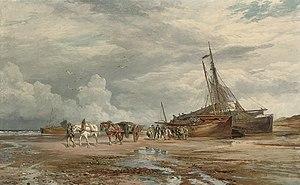 Samuel Bough - Unloading the boats.jpg