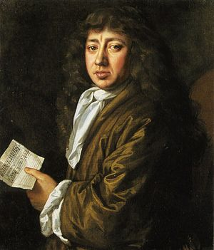Raid on the Medway - Portrait of Samuel Pepys by J. Hayls
