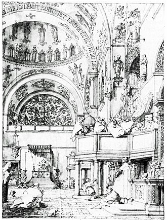 Baldassare Galuppi - Musicians' gallery in St Mark's, by Canaletto