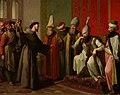 San Francisco ante el sultán de Egipto Malec-el-Kamal, de Zacarías González Velázquez (Museo del Prado).jpg