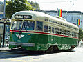 San Francisco employs second hand PCC streetcars in the livery of their original cities -a.jpg