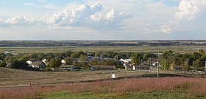 Santee, Nebraska - Santee, seen from the cemetery hill south of town