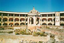 Il cortile interno del carcere di Santo Stefano