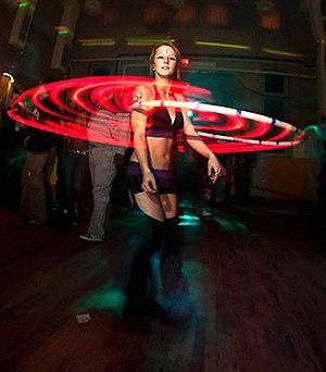 Hooping - Hooper performing with an LED hoop