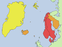 Χάρτης της Σκανδιναβίας