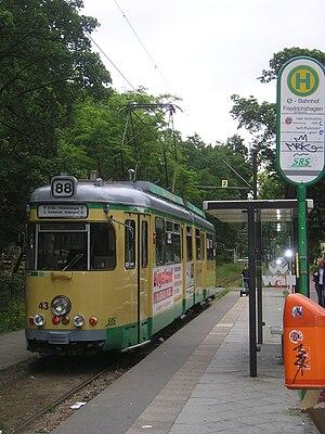 Berlin-Friedrichshagen station - Friedrichshagen terminus of the Schöneiche-Rüdersdorf tramway