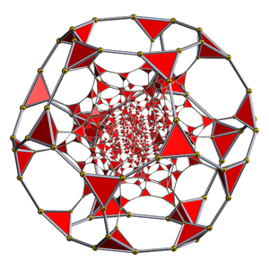 Uniform 4-polytope - Schlegel diagram for the truncated 120-cell with tetrahedral cells visible