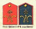 Schulterstücke, Feld-Artillerie-Regiment Nr. 10, Die Uniformen der deutschen Armee, Ruhl, Tafel 32.jpg
