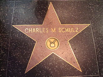 Charles M. Schulz - Schulz's star on the Hollywood Walk of Fame