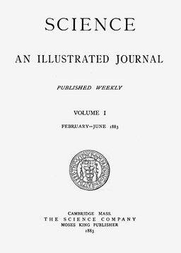 Science 1883 Cover