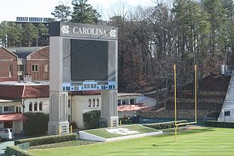 Kenan Memorial Stadium - The original video board, replaced in the 2011 expansion
