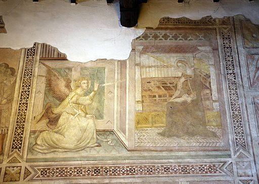 Scuola di bartolo di fredi, scene mariane, 1389, 02 annunciazione
