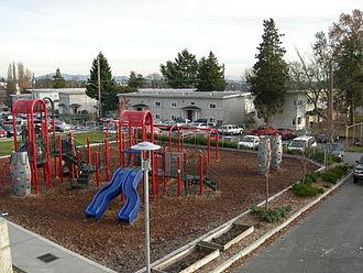 Yesler Terrace, Seattle - Children's playground, Yesler Terrace