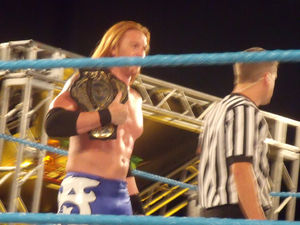 Heath Slater - Miller as the FCW Florida Heavyweight Champion in 2009