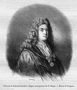 Sébastien Leclerc (1637–1714) - Drawing of Leclerc by Pauquet after an engraving by P. Dupin.