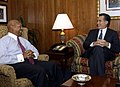 Secretary Alphonso Jackson with Governor Mitt Romney.jpg