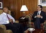 Secretary Alphonso Jackson with Governor Mitt Romney.jpg