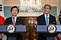 Secretary Kerry Delivers Remarks at a Press Conference With South Korean Foreign Minister Yun in Washington (29803701113).jpg